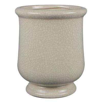 10.5 in. Ivory Ceramic Lugano Urn