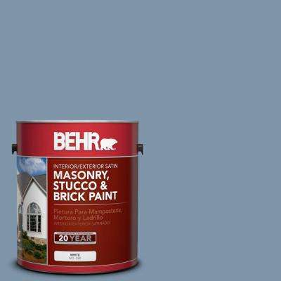 1 gal. #560F-5 Bleached Denim Satin Interior/Exterior Masonry, Stucco and Brick Paint