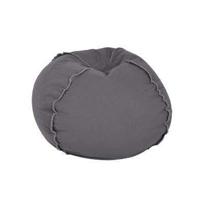 Charcoal Grey Canvas Bean Bag 3 Options Available