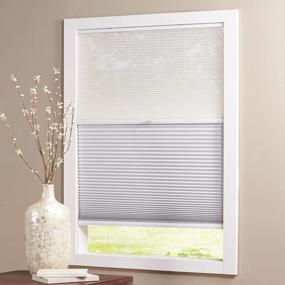 Home Decorators Collection Cut-to-Size White Cordless Blackout UV Protection Cellular Shades 57.125 x 72 in. L