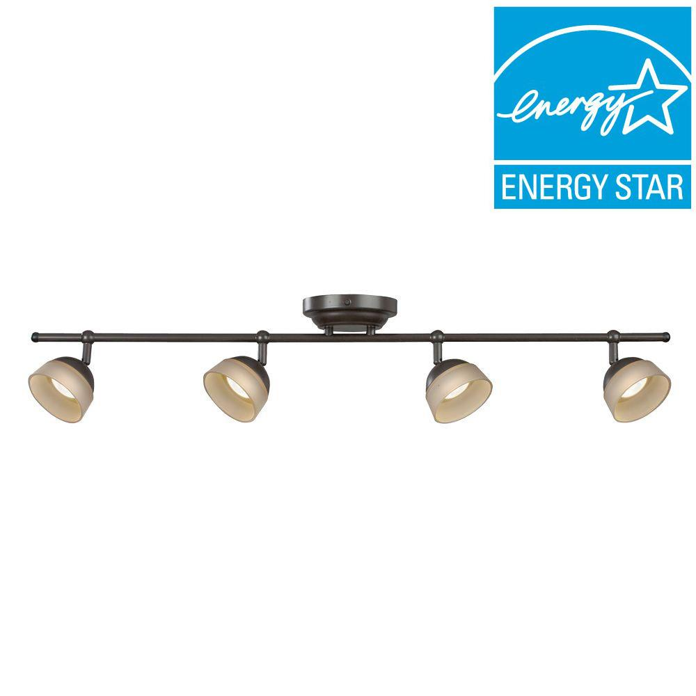 Aspects Madison 4-Light Oil-Rubbed Bronze Dimmable Fixed Track Lighting Kit