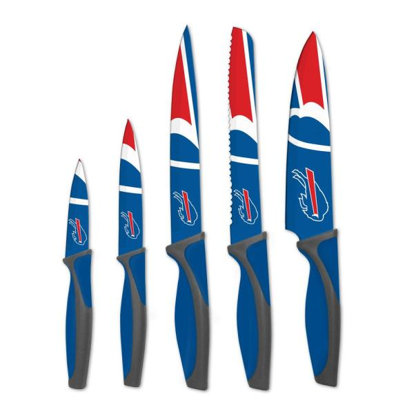 sportsvault NFL Buffalo Bills 5-Piece Kitchen Knives KKNFL04