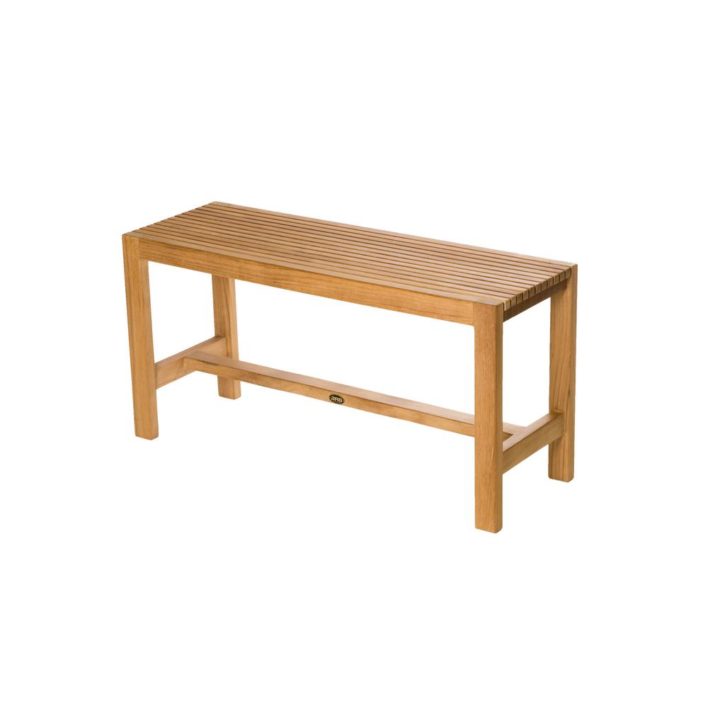 Arb Teak And Specialties 36 In W Fiji Bathroom Shower Bench Natural