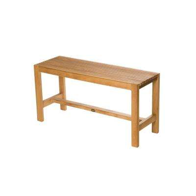 36 in. W Fiji Bathroom Shower Bench in Natural Teak