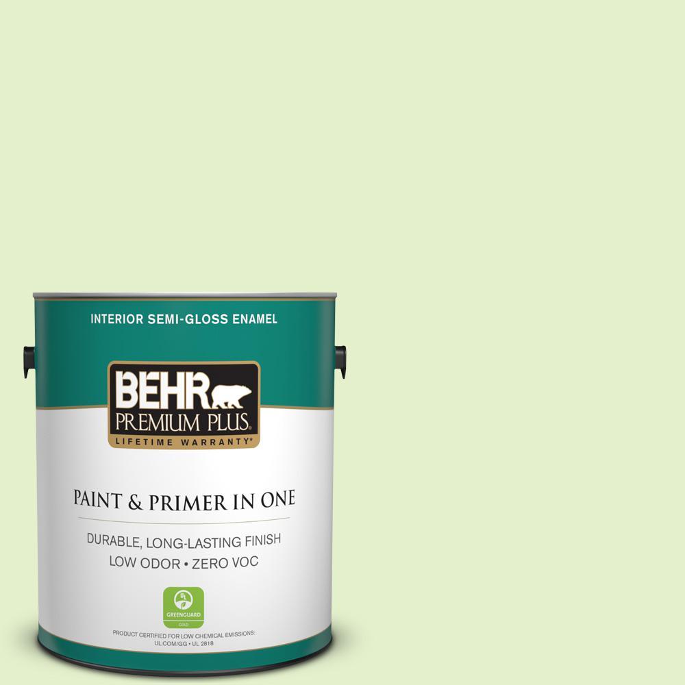 1-gal. #420C-2 Water Sprout Zero VOC Semi-Gloss Enamel Interior Paint