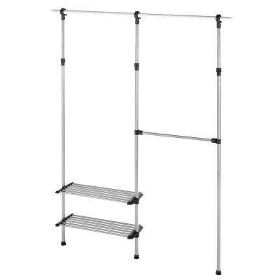Supreme Garment/Closet Collection 10 in. D x 50.45 in. W x 61 in. H Closet Rod Metal Closet System