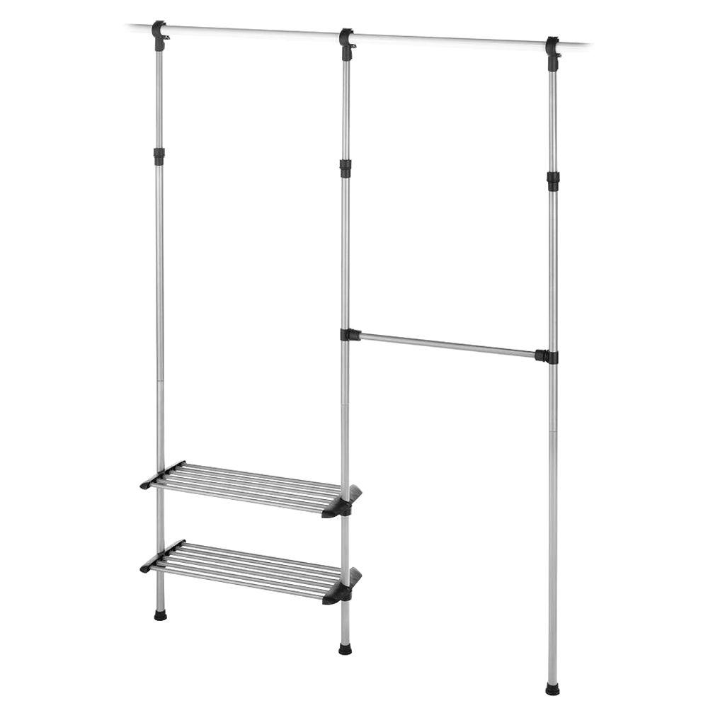 Whitmor Supreme Garment/Closet Collection 10 in. D x 50.45 in. W x 61 in. H Closet Rod Metal Closet System
