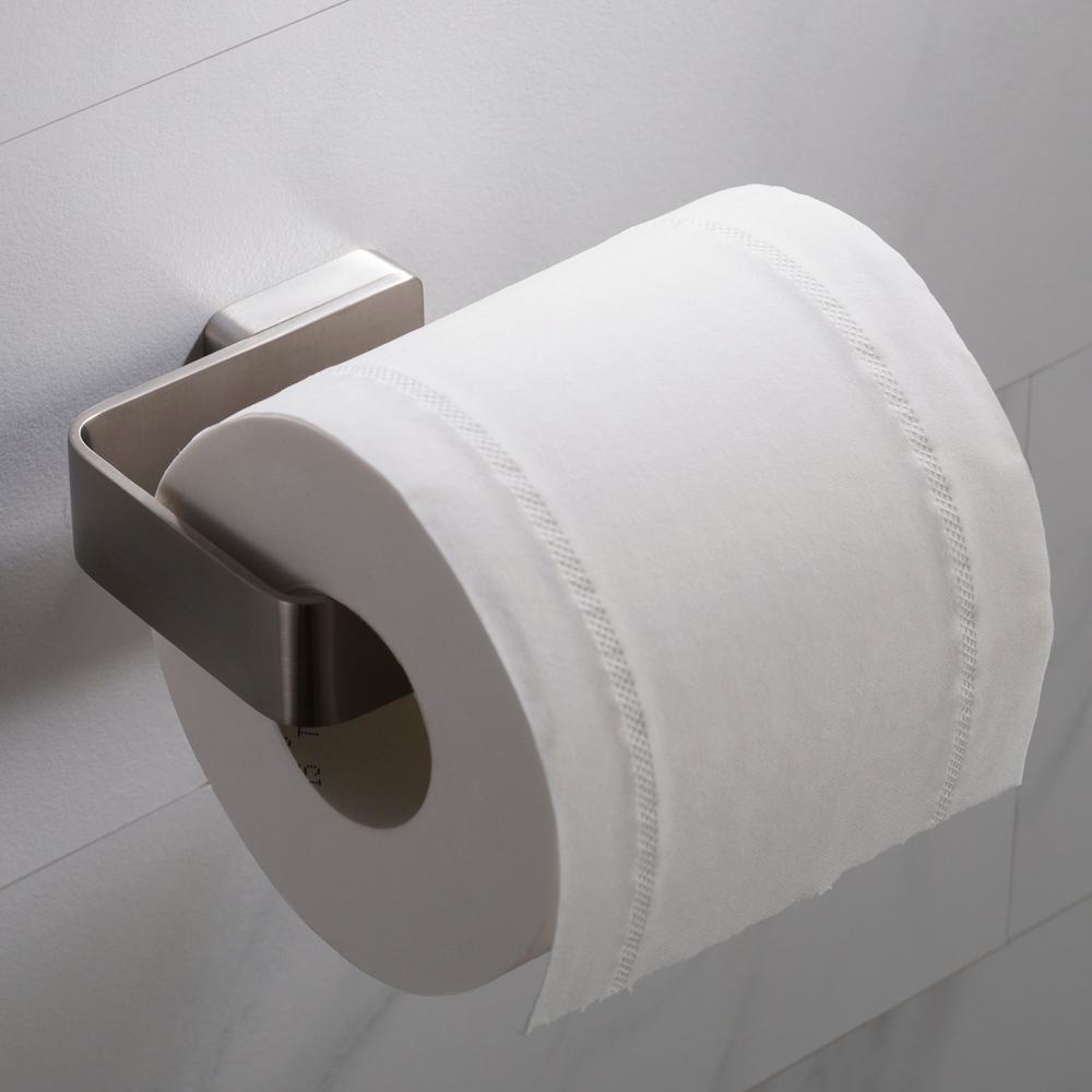 Stelios Bathroom Toilet Paper Holder in Brushed Nickel
