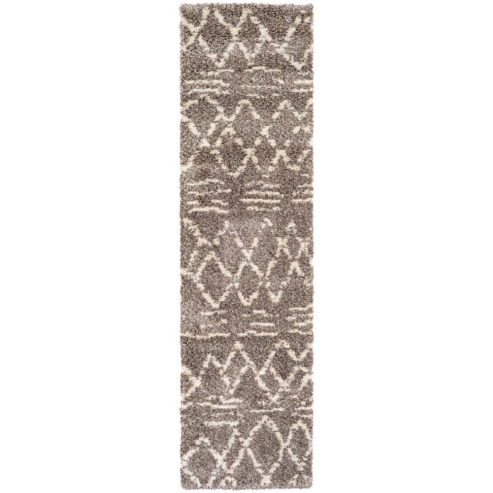 Couristan Bromley Diamondback Multi-Ivory 2 ft. 2 in. x 7 ft. 10 in. Runner Rug