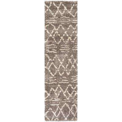 Bromley Diamondback Multi-Ivory 2 ft. 2 in. x 7 ft. 10 in. Runner Rug