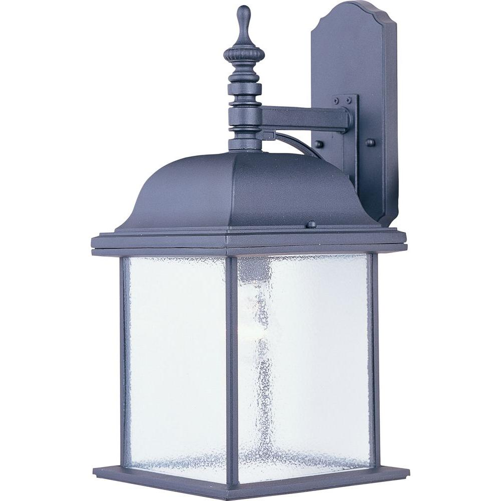 Maxim Lighting Senator 1-Light Black Outdoor Wall Mount