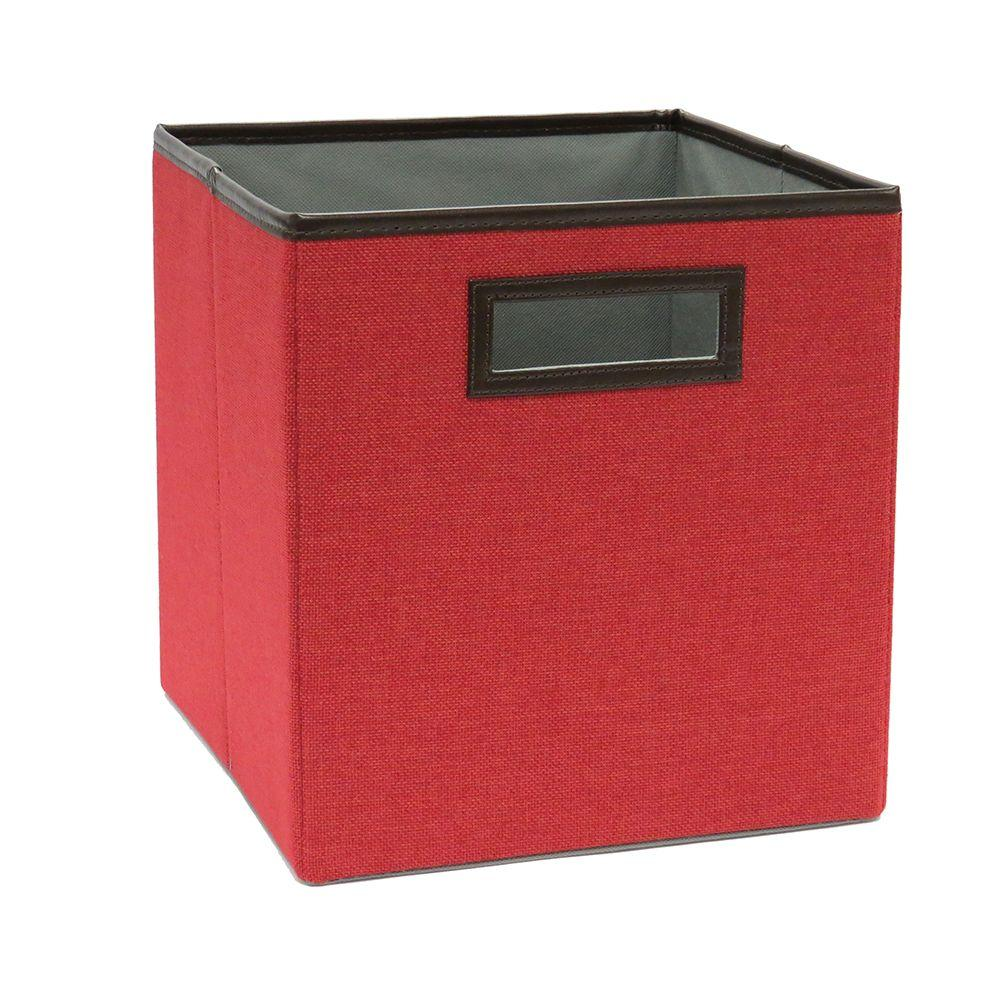 10.5 in. x 11 in. Rose Red Linen Fabric Drawer