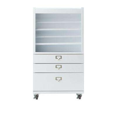 Becker White Metal Wrapping Cart