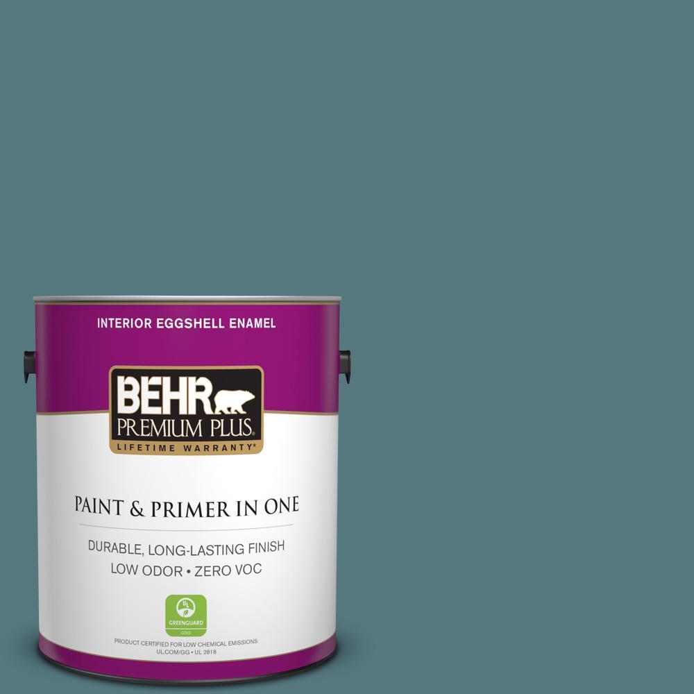 BEHR Premium Plus 1-gal. #BXC-81 Crater Lake Eggshell Enamel Interior Paint