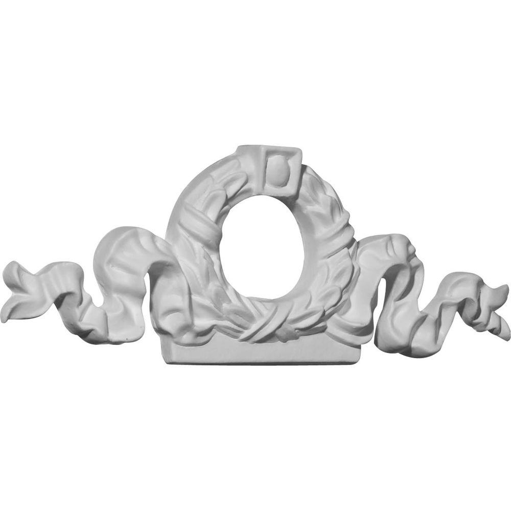 Ekena Millwork 5/8 in. x 7 in. x 2-5/8 in. Polyurethane Wreath Center Onlay Moulding