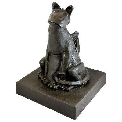 21 in. Bronze Color Smiling Dragon Lawn and Garden Statue