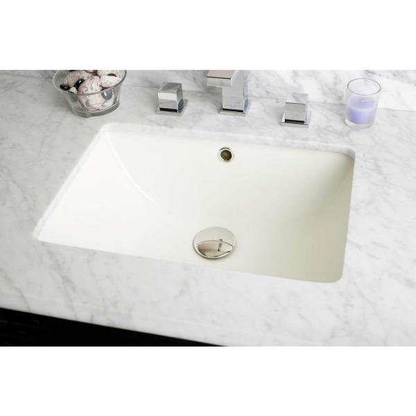 16 Gauge Sinks 18 25 In Undermount Bathroom Sink In Biscuit 16gs 22812 The Home Depot