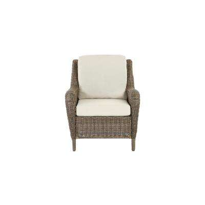 Cambridge Gray Wicker Outdoor Patio Lounge Chair with Bare Cushions