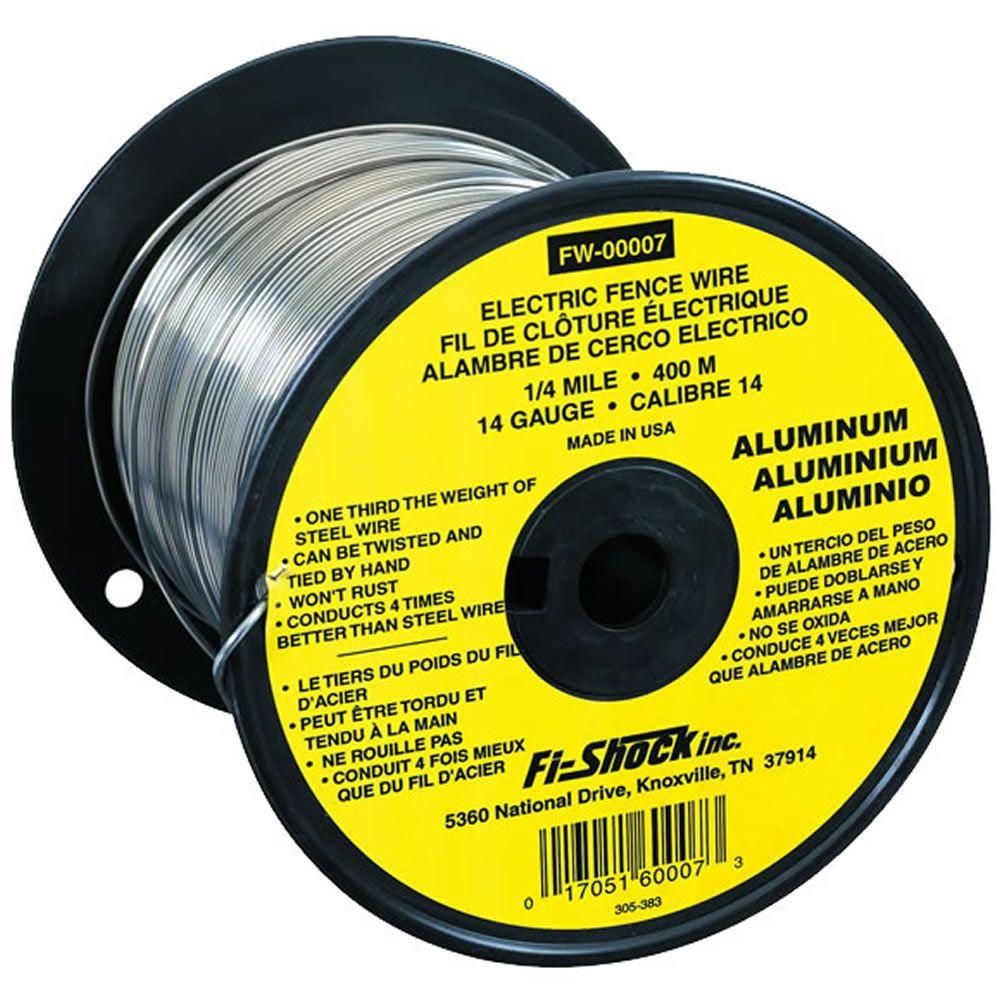 Fi-Shock 1/4 Mile 14-Gauge Aluminum Wire-FW-00007T - The Home Depot
