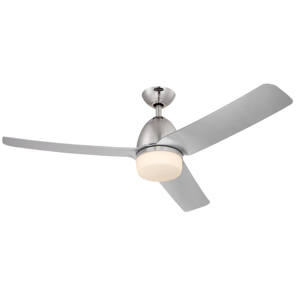 Westinghouse Delancey 52 in. LED Brushed Chrome DC Motor Ceiling Fan