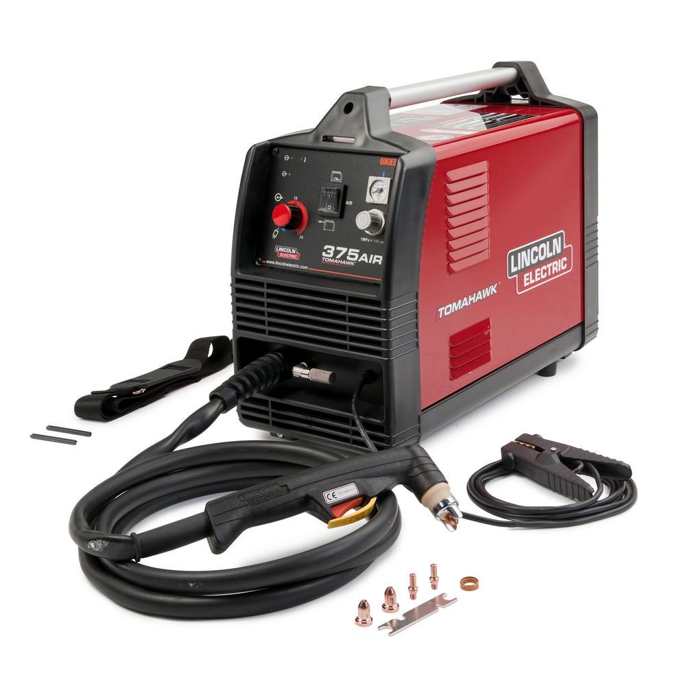 Tomahawk 375, 25 Amp 230-Volt Plasma Cutter for Steel with Internal Air Compressor