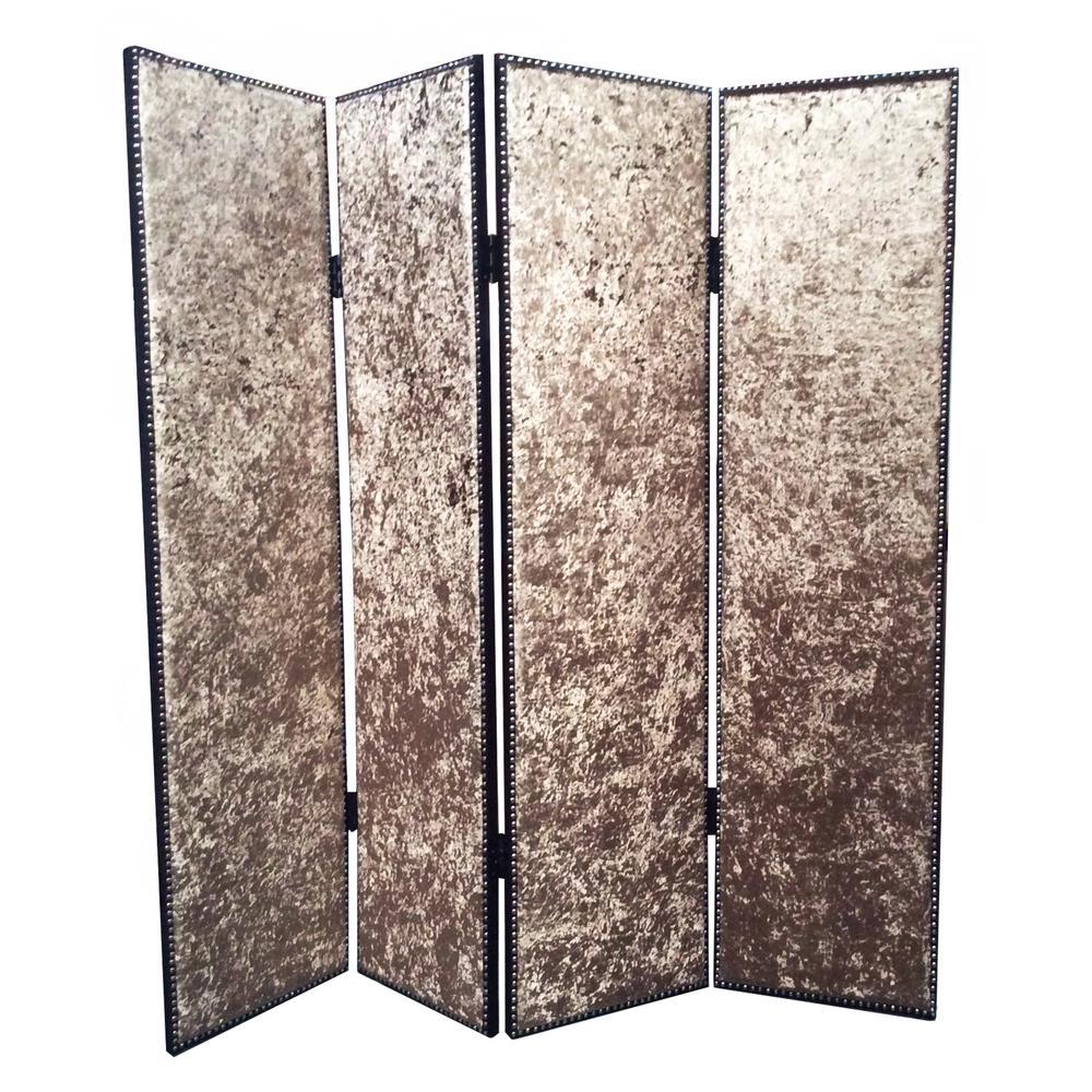 Viotetta 7 ft Bronze 4 Panel Room Divider SG 252 The Home Depot