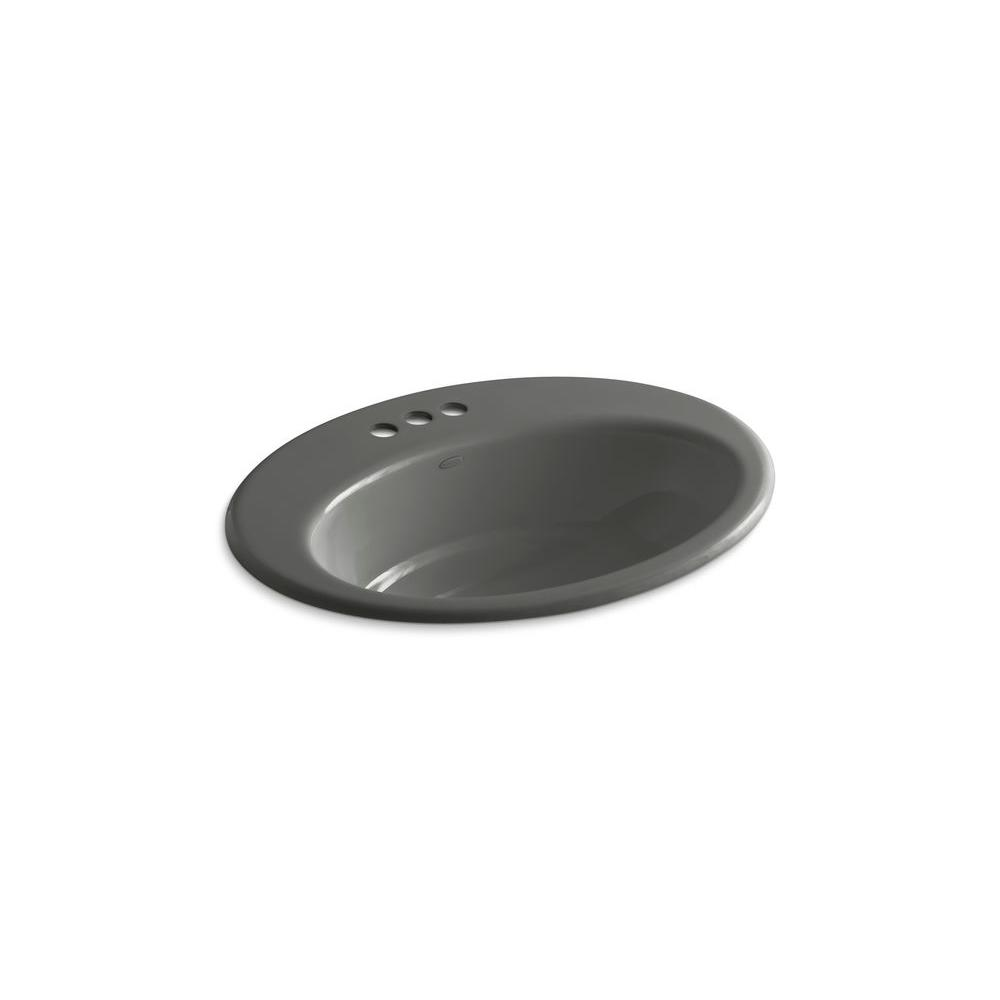KOHLER Thoreau Self-Rimming Bathroom Sink in Thunder Grey-DISCONTINUED