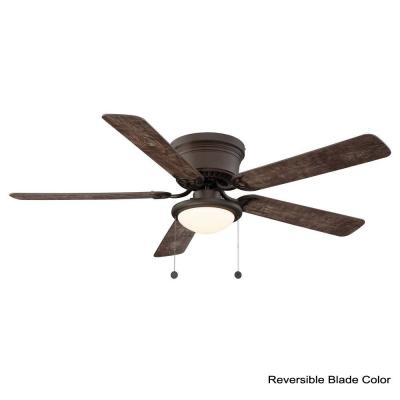 Hugger 56 in. LED Espresso Bronze Ceiling Fan