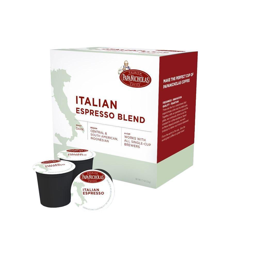 PapaNicholas Italian Espresso Roast Coffee (72-Cups per Case)