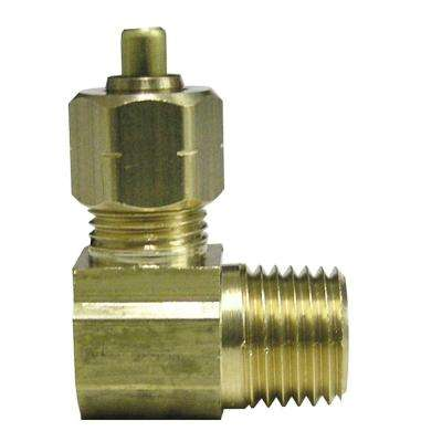 3/8 in. x 1/2 in. MIP Lead-Free Brass Compression 90-Degree Elbow