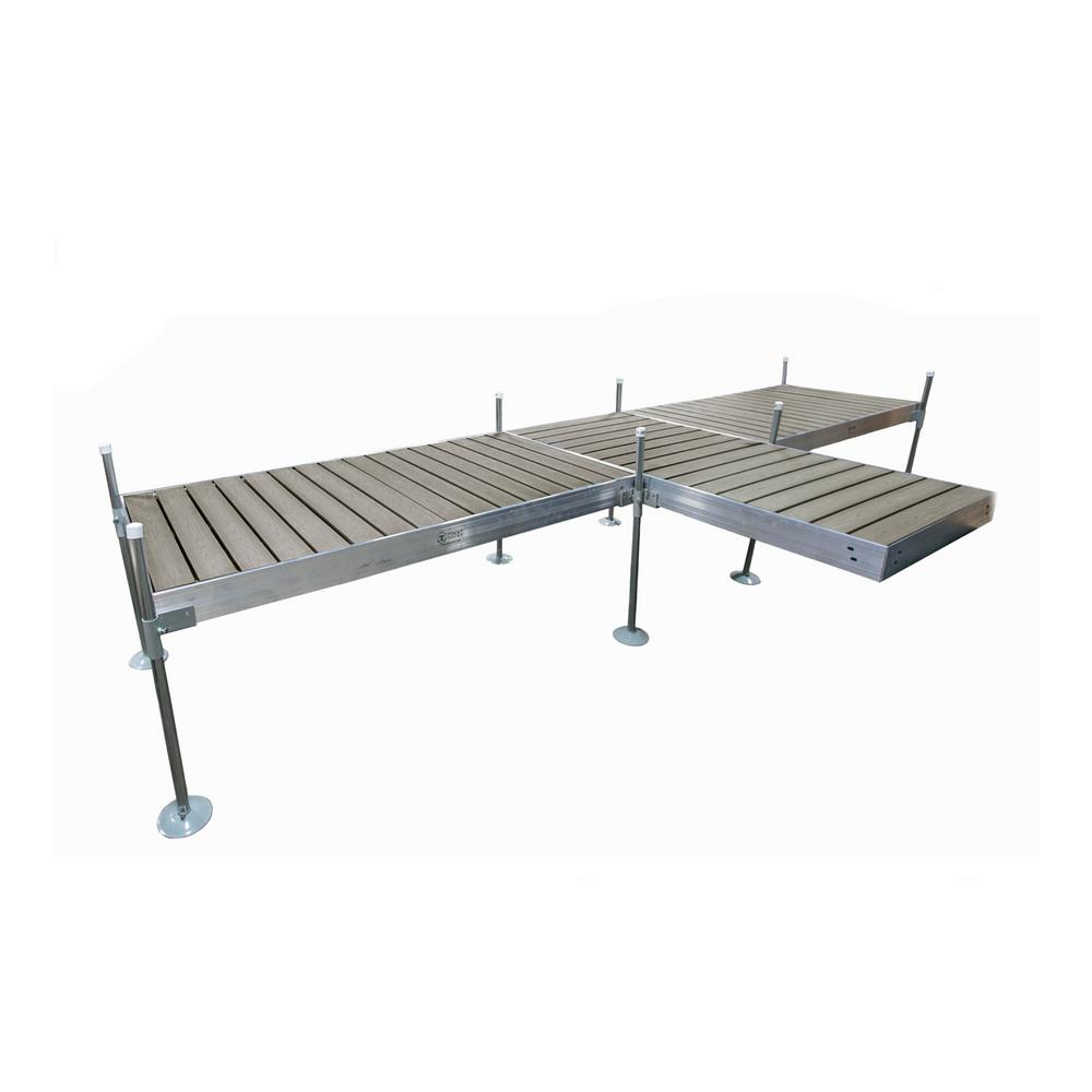 Tommy Docks 8 ft. Shore T-Style Aluminum Frame with Decking Complete Dock Package
