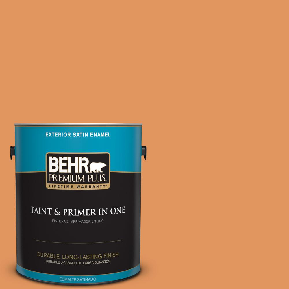 1-gal. #M230-6 Amiable Orange Satin Enamel Exterior Paint