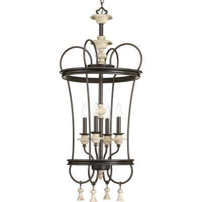 Bergamo Collection 4-Light Forged Bronze Pendant