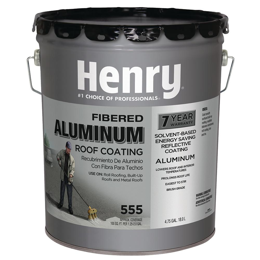 555 Premium Aluminum Roof Coating  sc 1 st  The Home Depot & Henry 4.75 Gal. 555 Premium Aluminum Roof Coating-HE555019 - The ... memphite.com