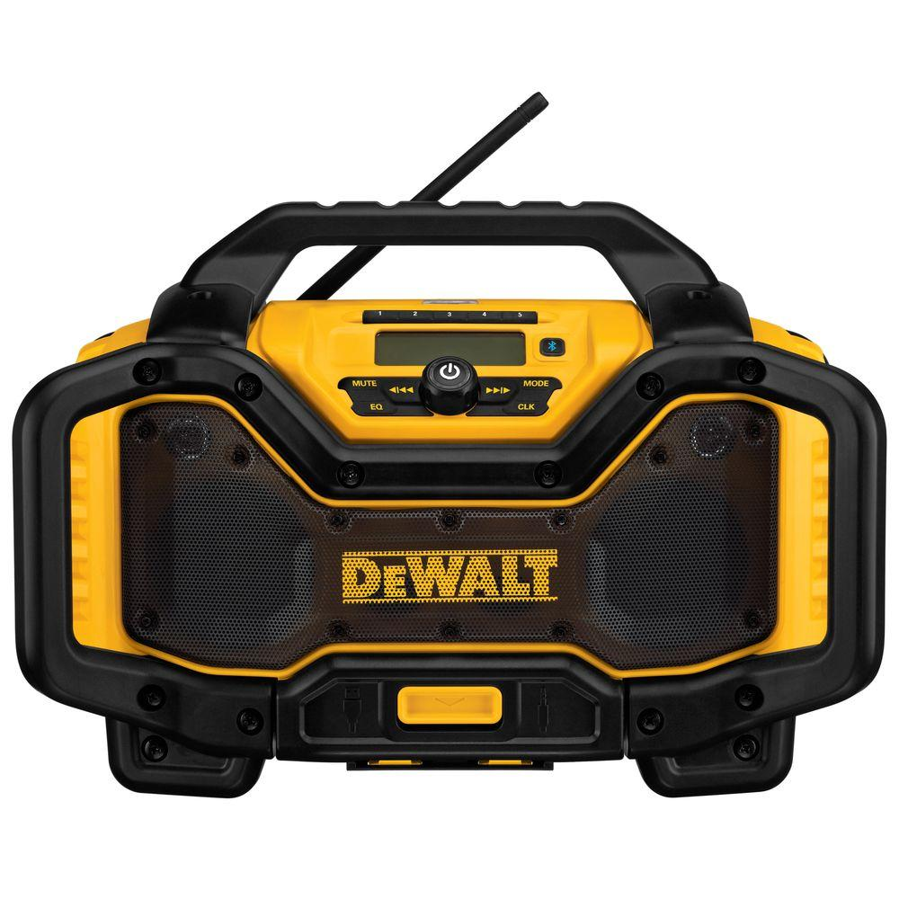 DEWALT 20-Volt MAX or FLEXVOLT 60-Volt MAX Lithium-Ion Bluetooth Radio with built-in Charger