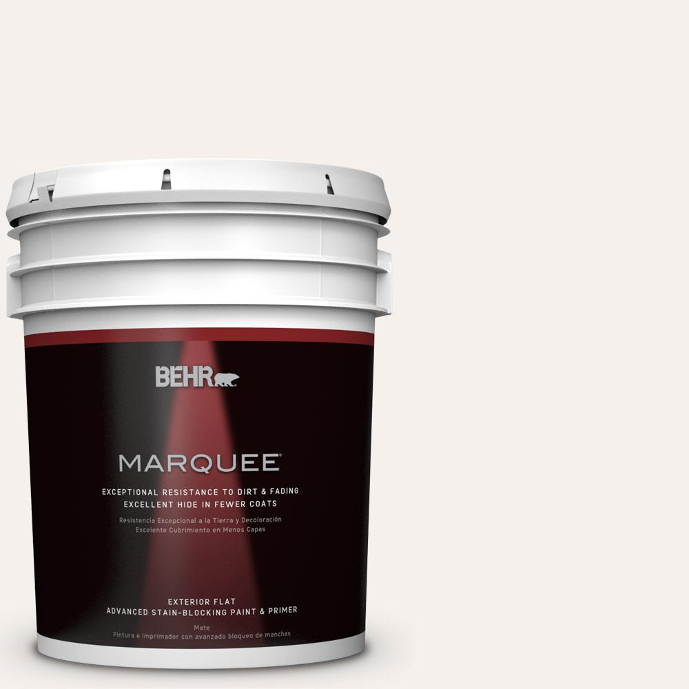 BEHR MARQUEE 5-gal. #PPL-33 Pink Dust Flat Exterior Paint