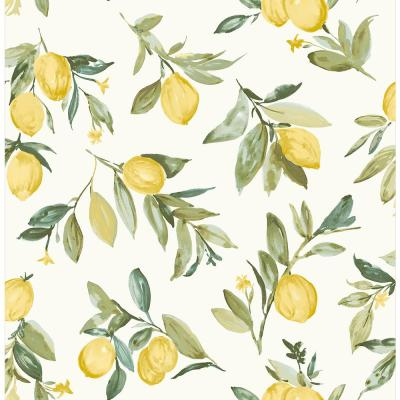 Limon Yellow Fruit Yellow Paper Strippable Roll (Covers 56.4 sq. ft.)