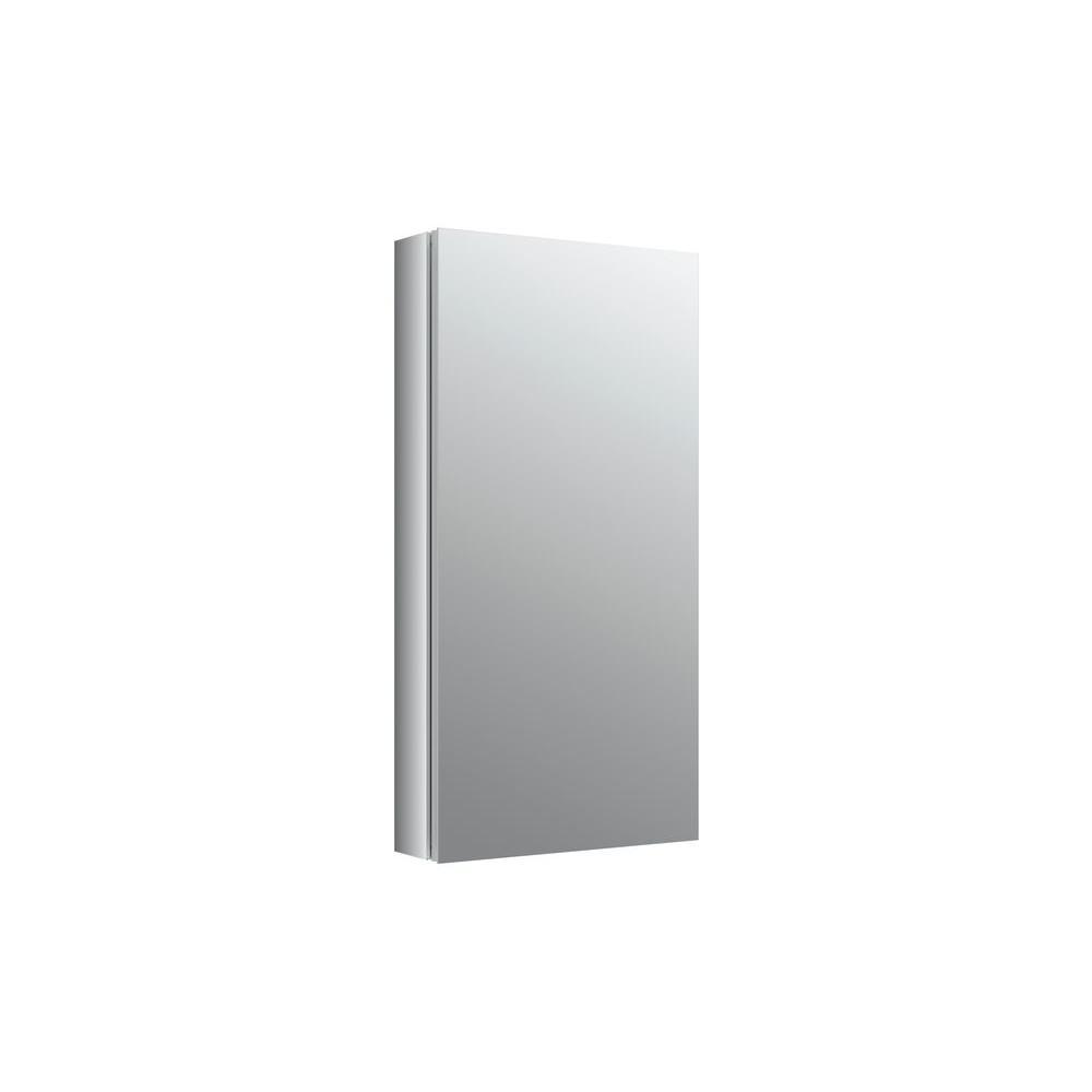 Verdera 15 in. W x 30 in. H Recessed Medicine Cabinet in Anodized Aluminum