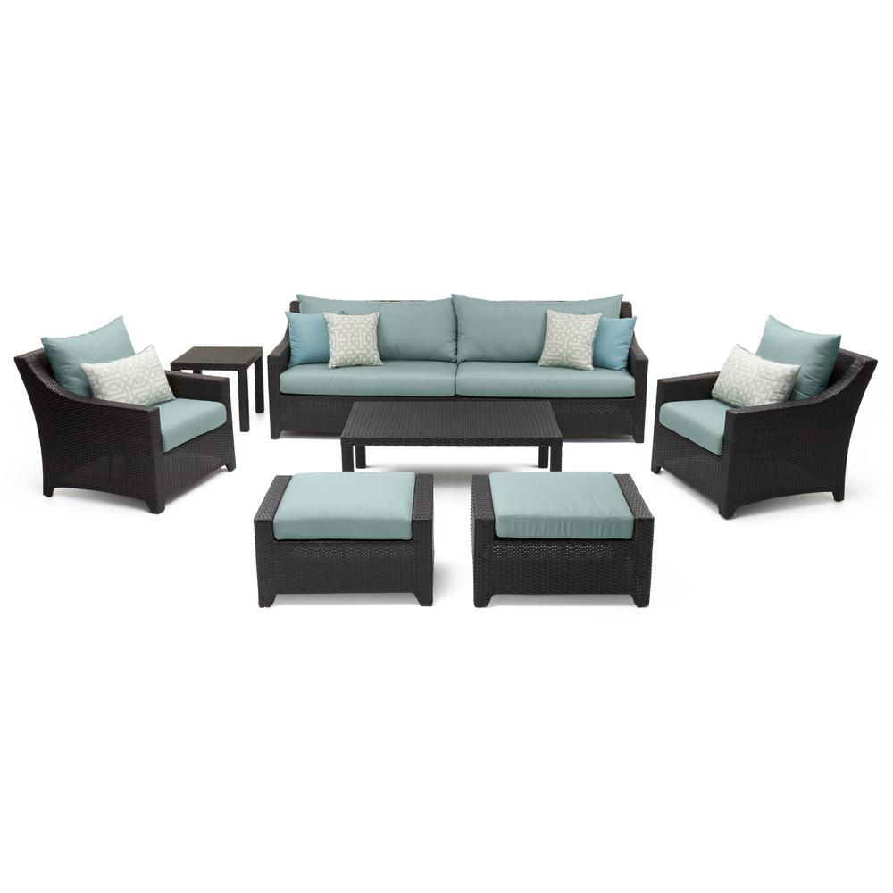 Deco 8-Piece All-Weather Wicker Patio Sofa and Club Chair Conversation Set