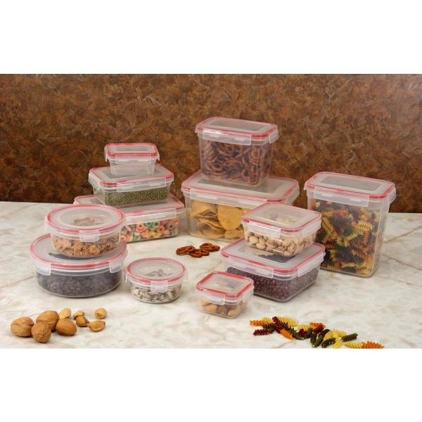 24-Piece Lock and Seal Storage Container Set