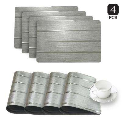 Park Avenue Silver Metallic Placemat (Set of 4)