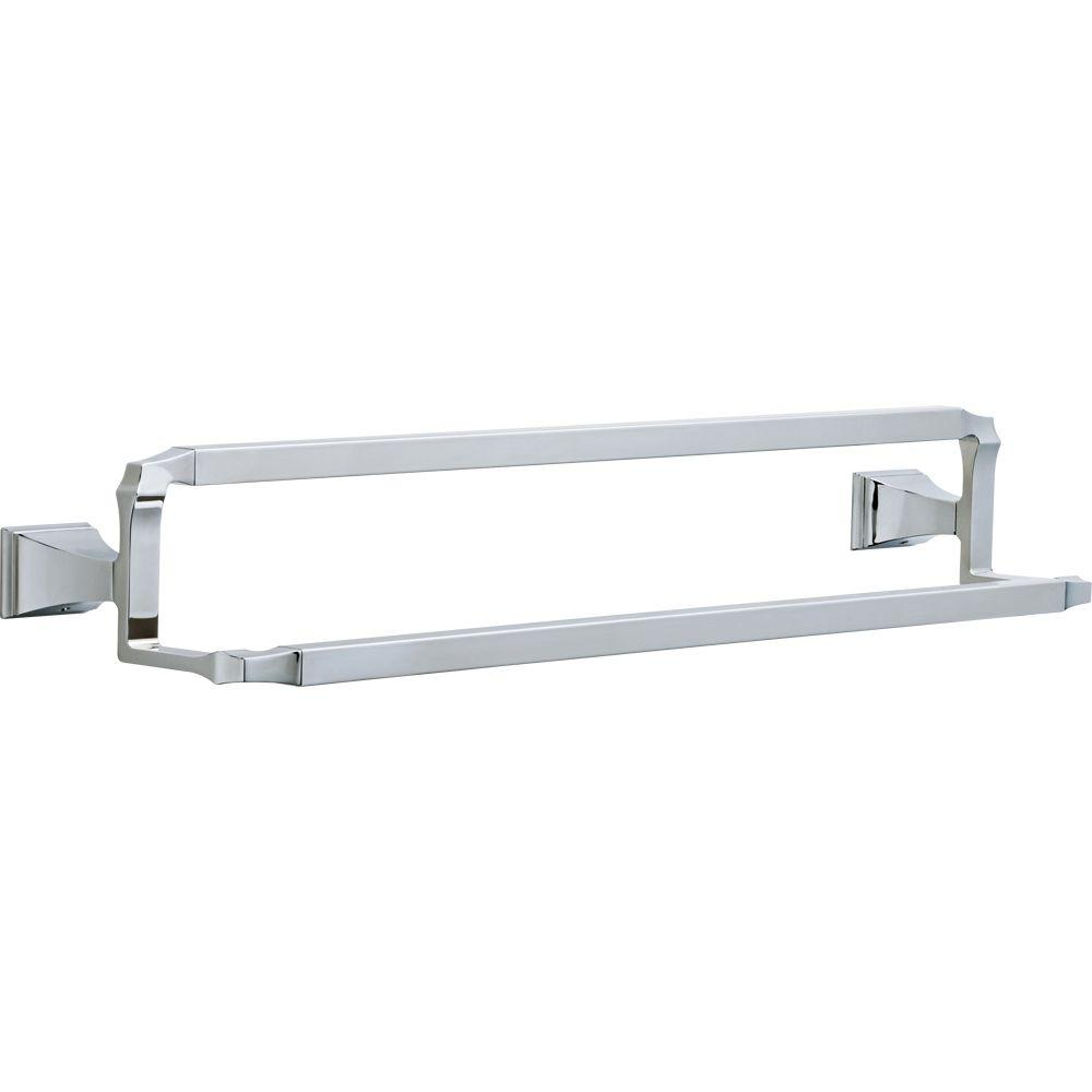 Delta Dryden 24 In Double Towel Bar In Chrome 75125 The