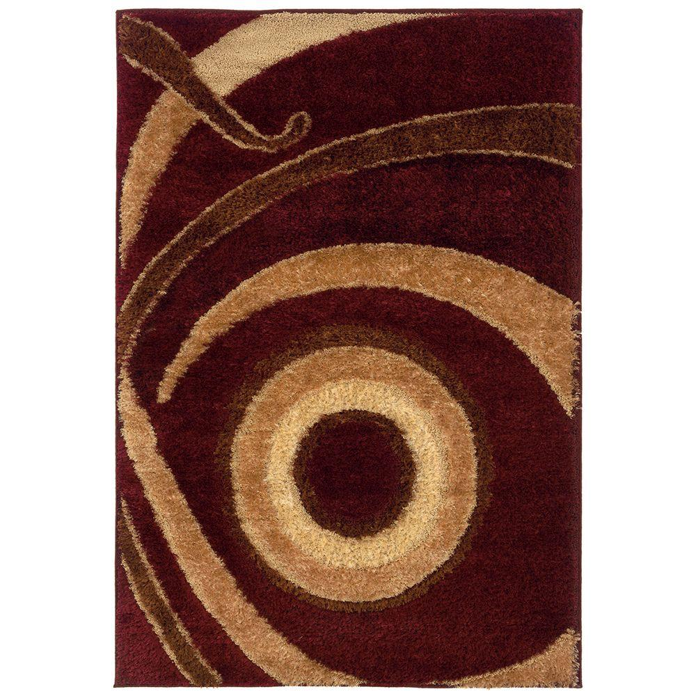 United Weavers Focus Wine 5 ft. 3 in. x 7 ft. 6 in. Area Rug