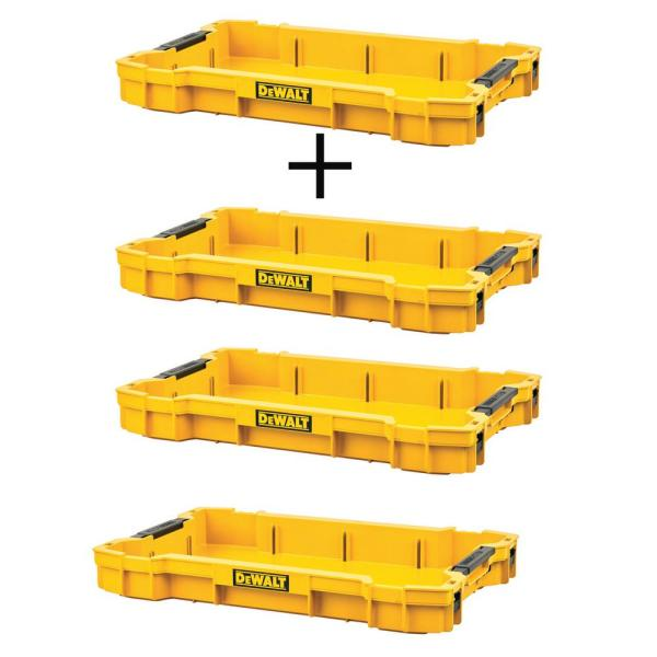 TOUGHSYSTEM 2.0 Shallow Tool Tray with (3) TOUGHSYSTEM 2.0 Shallow Tool Trays