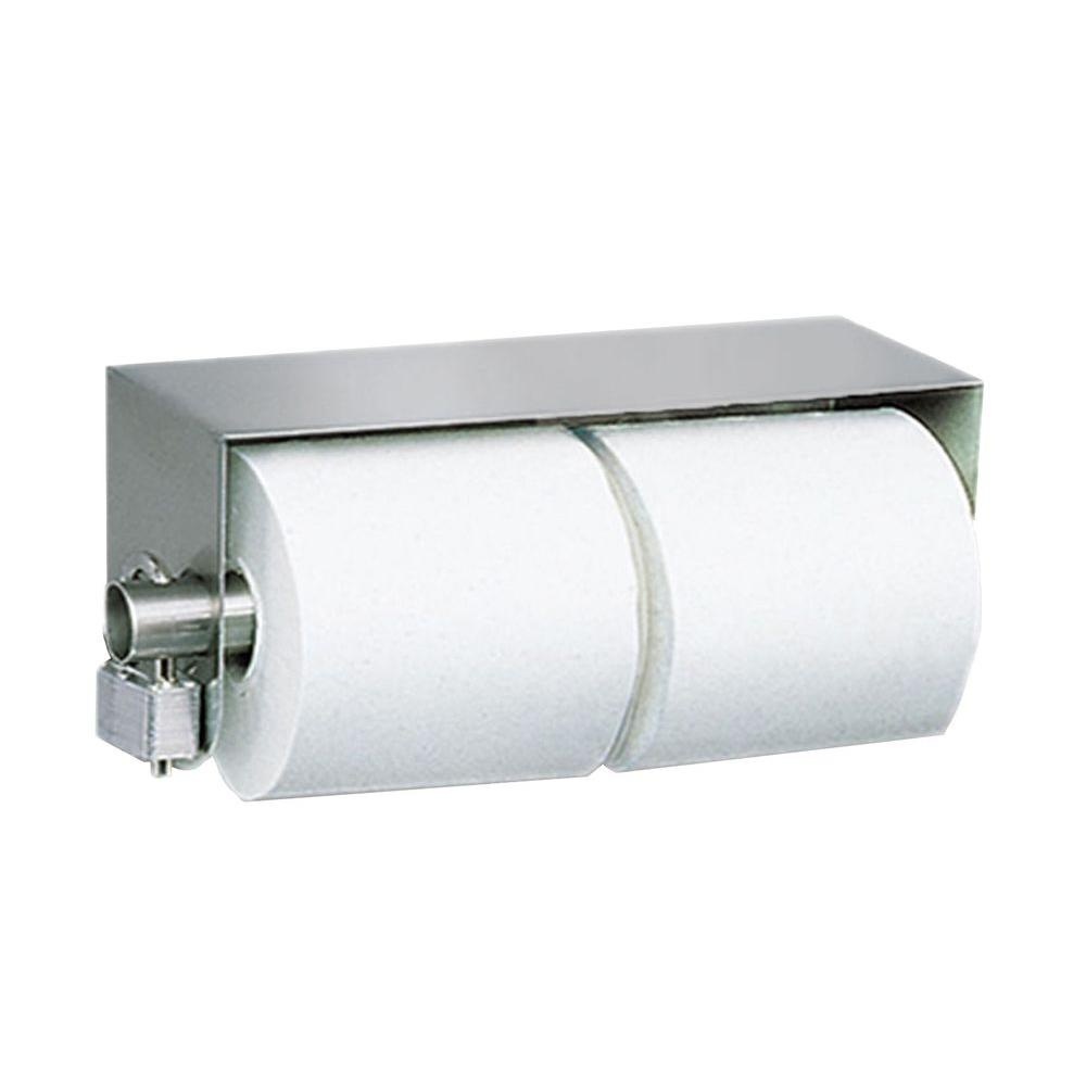 null Stainless Solutions Double Post Locking Toilet Paper Holder in Steel