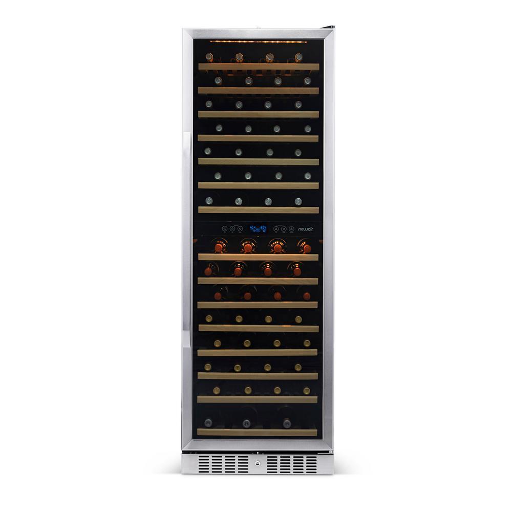 160-Bottle Dual Zone Built In Wine Cooler