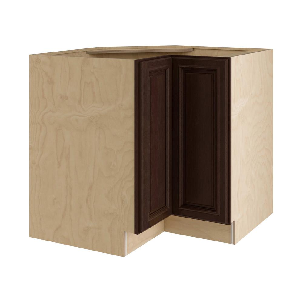 Home Decorators Collection Somerset Assembled 33x34.5x24 in. Easy Reach Hinge Left Base Kitchen Corner Cabinet in Manganite