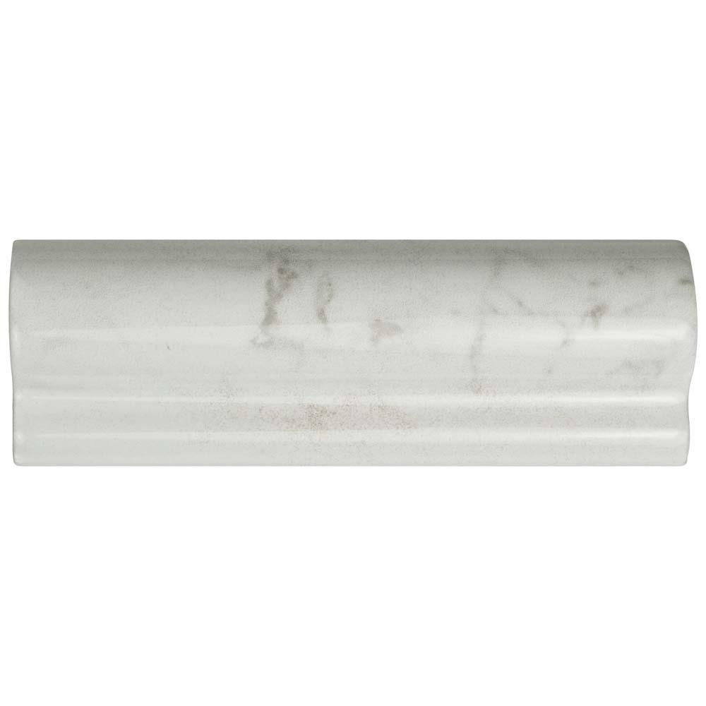 Merola Tile Clico Carrara Glossy London Chair Rail 2 In X 6 Ceramic