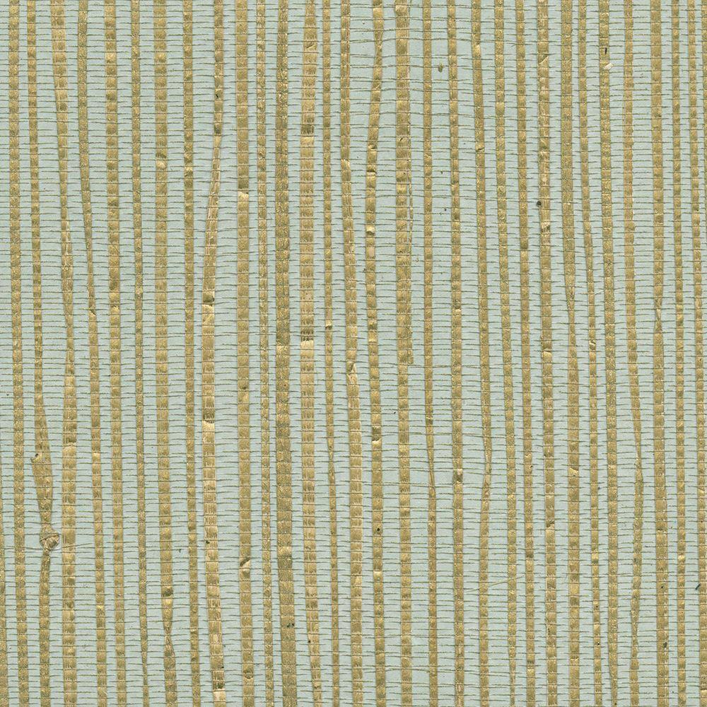 Patterned Grasscloth Wallpaper: Kenneth James Arina Turquoise Grasscloth Wallpaper-2622