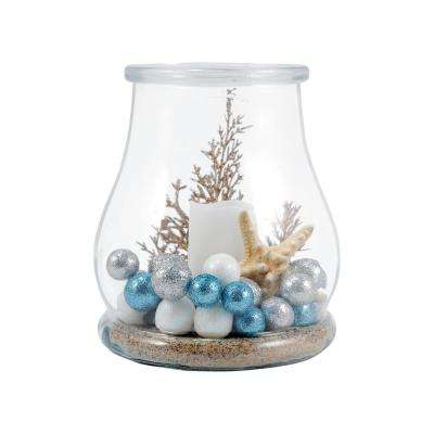 Shiloh 7 in. Clear Glass Hurricane Candle Holder